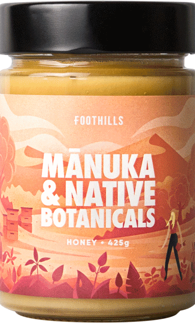Manuka & Native Botanicals Honey - Manuka Honey Blend from Foothills Honey