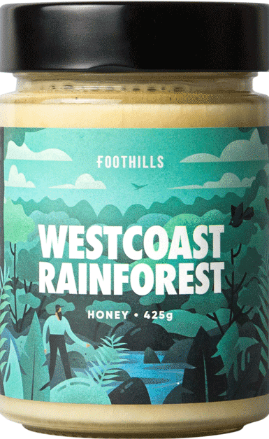West Coast Rainforest Honey - Manuka, Rata, Kamahi Honey Blend