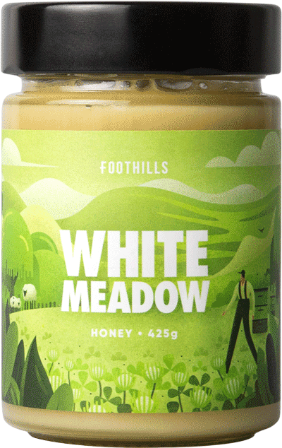 White Meadow Foothills Honey - Clover honey blend